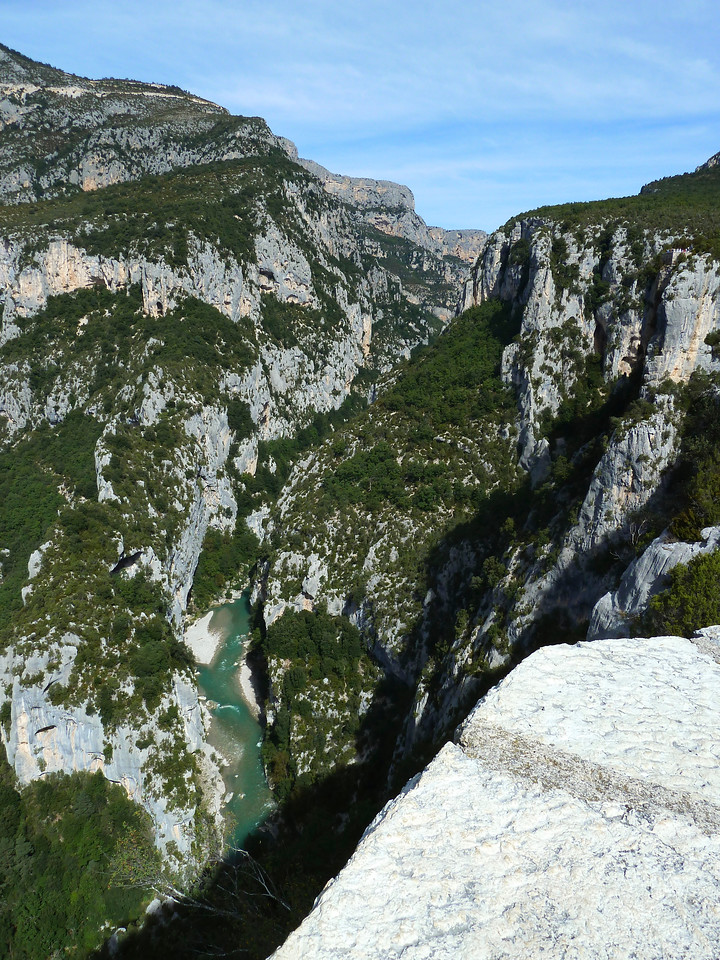 The Gorges du Verdon ( French Grand Canyon) en route from Antibes to Barcelona - after a slight detour!!