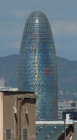 The Barcelona Gerkin (Torre Agbar) which is an apartment building!