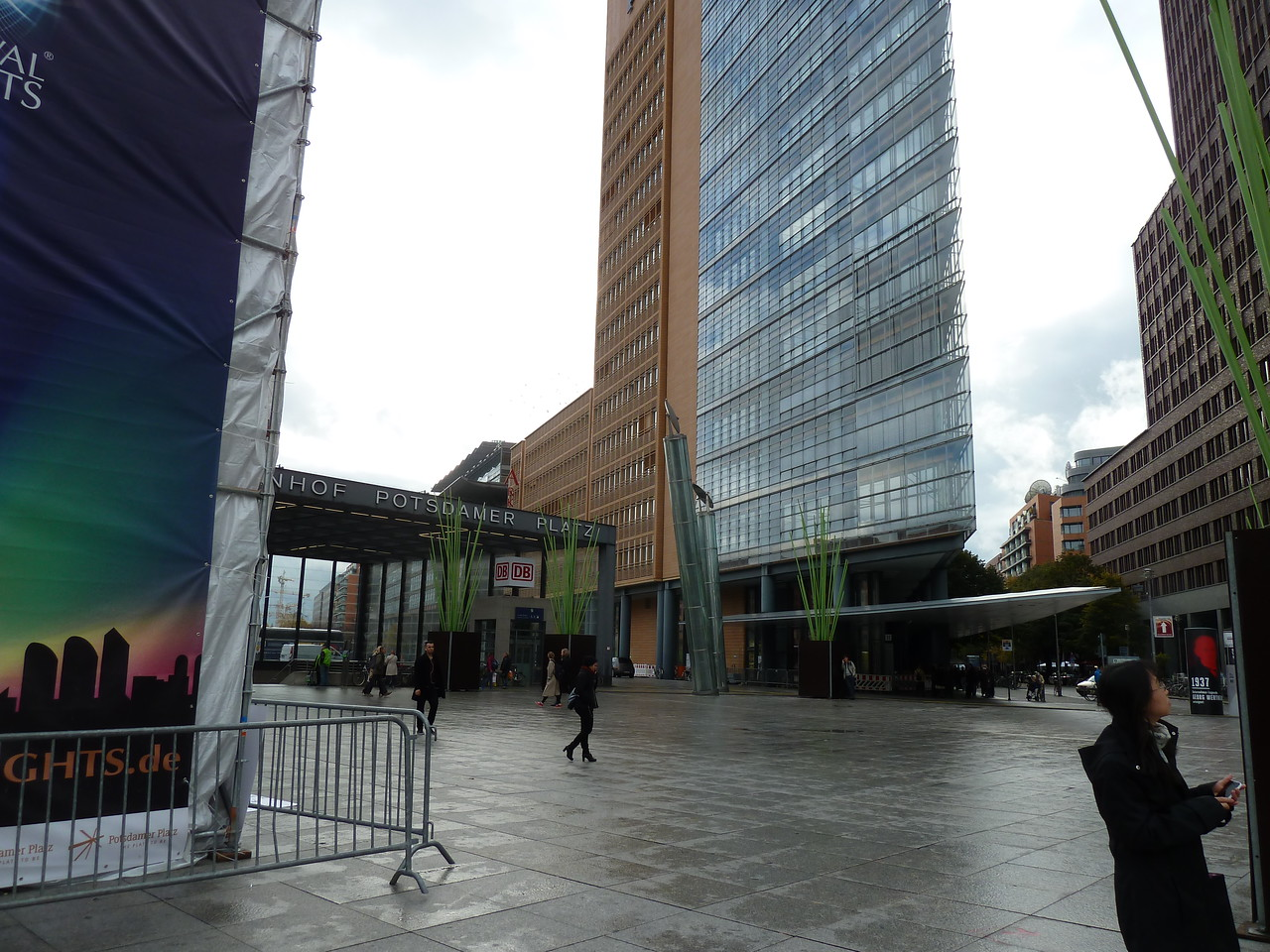 The very modern Potsdamer Platz.