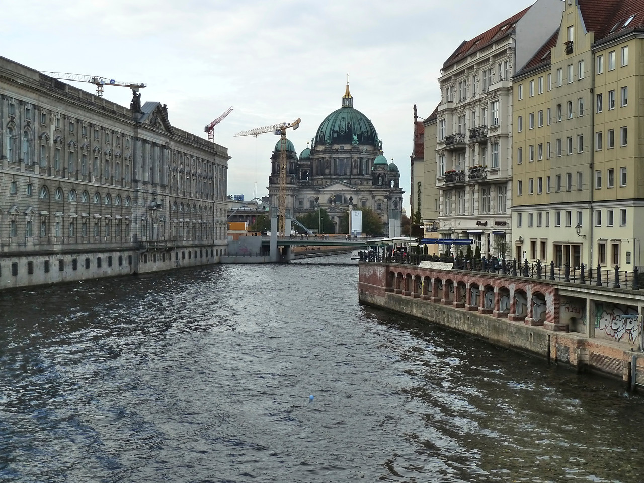 The Berlin Cathedral with the river Spree.