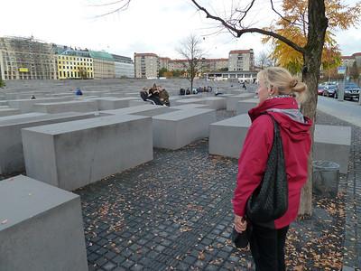 The haunting Holocaust Memorial next to the Brandenburg Gate.