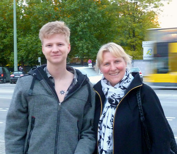 """With my nephew Anton and his """"Southern Cross"""" Tattoe from Australia."""