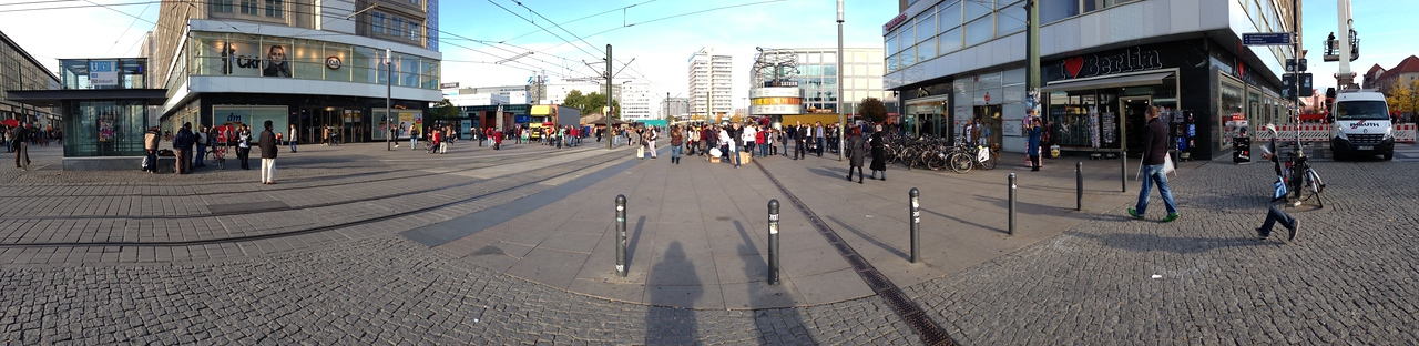 "Again, a look at the ""Alexander Platz""."