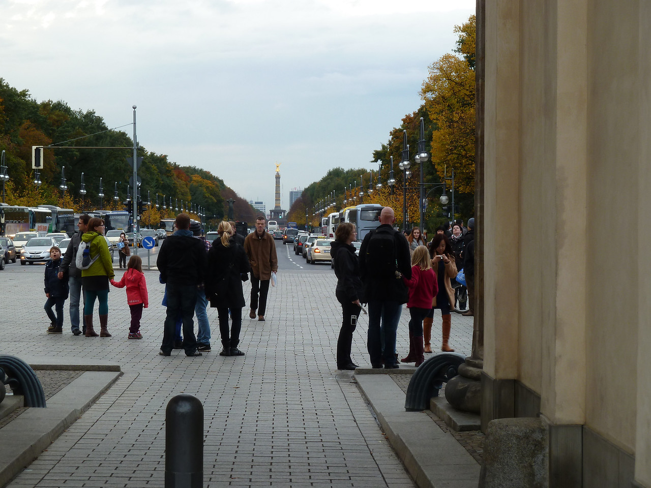 "View from the Brandenburg Gate into ""West"" Berlin."