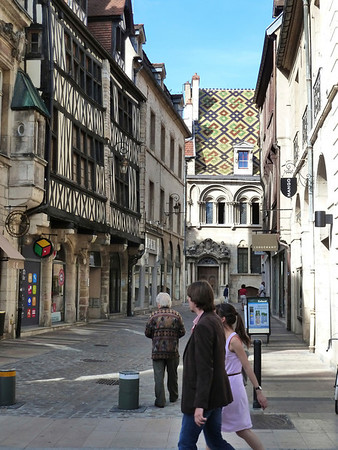 Medieval downtown core of Dijon, France.
