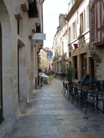 Street scene in Dijon, France.