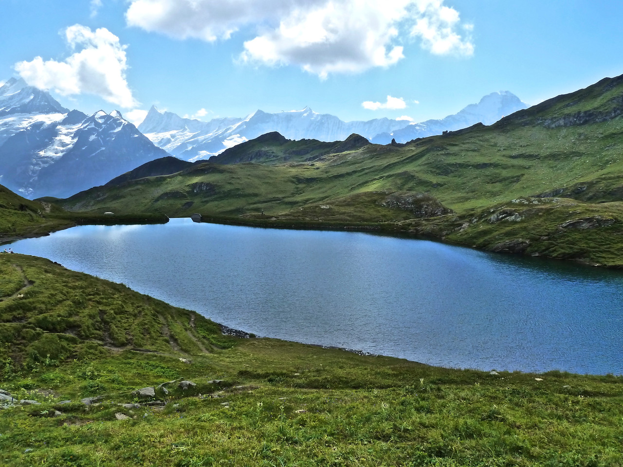 The Bachsee with the Eiger on the far right!