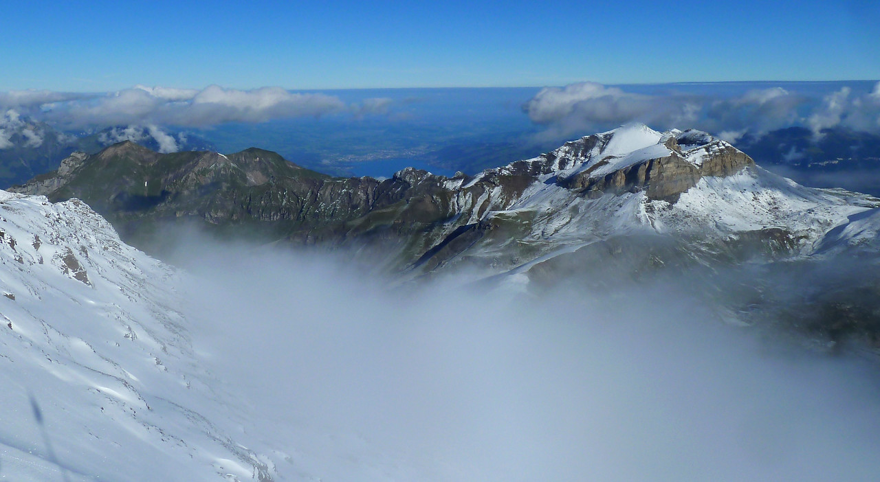 The view from the top of the Schilthorn.