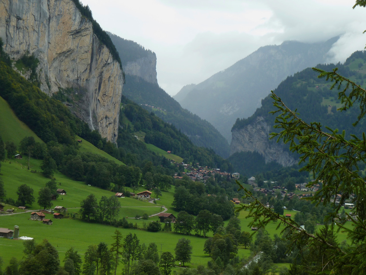 The Lauterbrunnen Valley.
