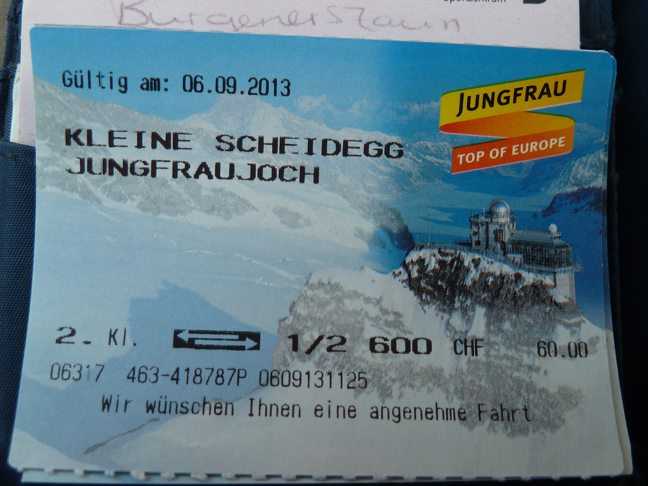 Going up to the Jungfraujoch with the train!!