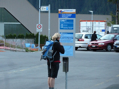 Bus stop to the Große Scheidegg - our trail head.