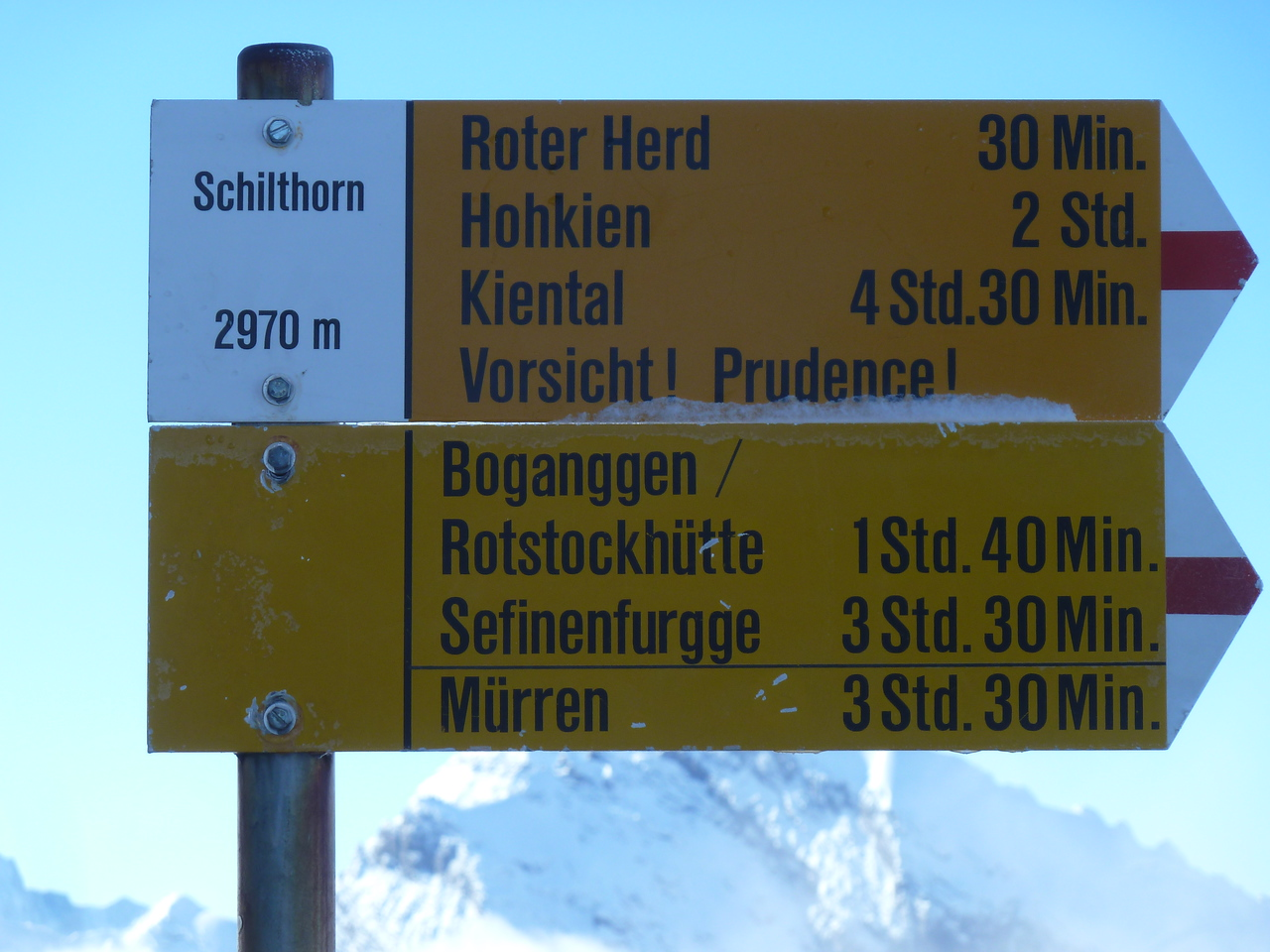 Hikes from the Schilthorn.