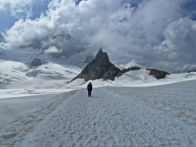Again looking back towards the Jungfraujoch Lookout with the top of the Jungfrau in the background.