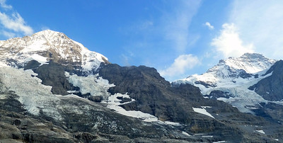 Jungfrau on the right and Mönch on the left.