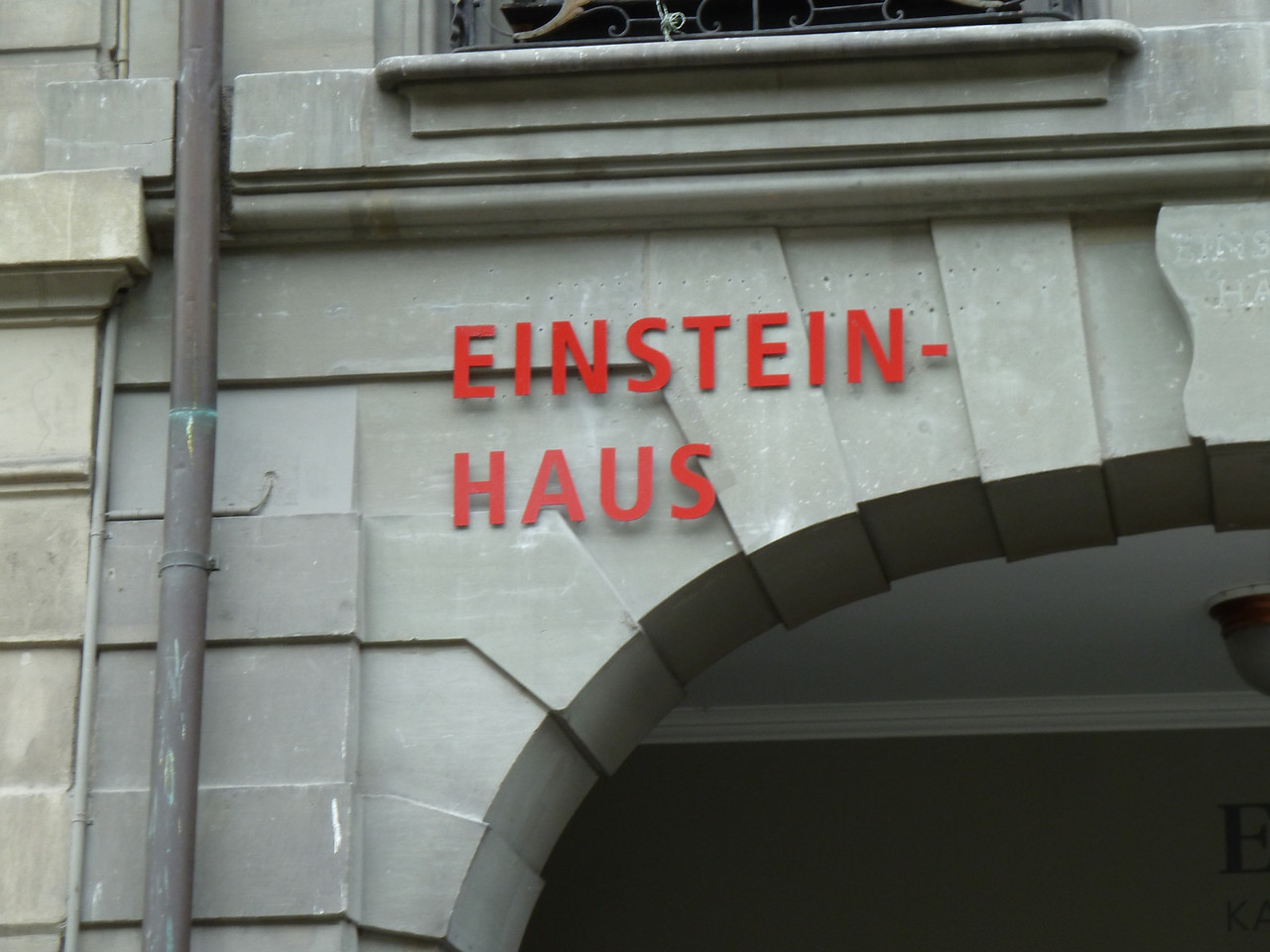 Einstein supposedly developed his Theory of Relativity while living in Bern.