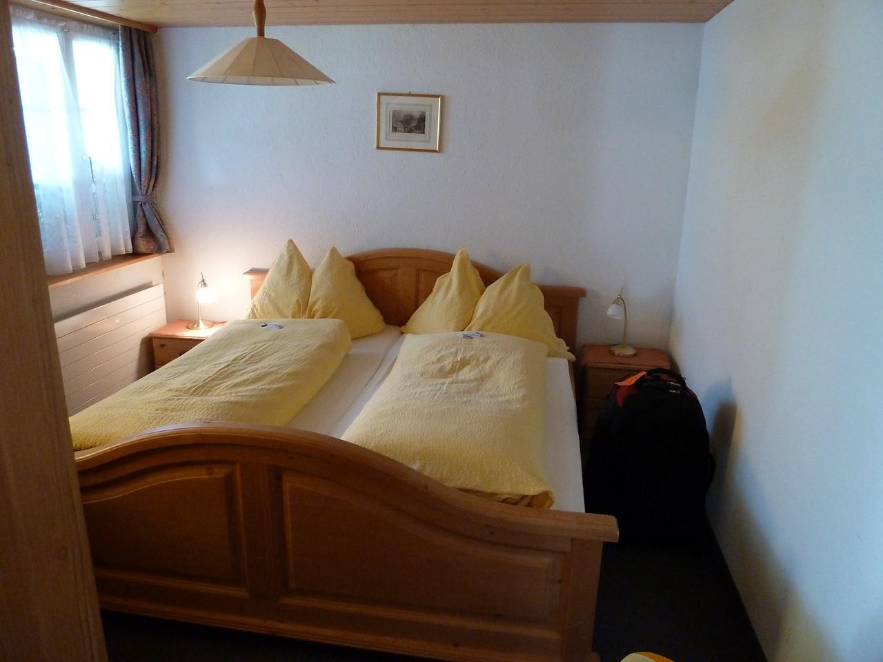 The cozy bedroom!