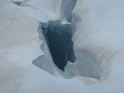 The glaciers around the Jungfraujoch.