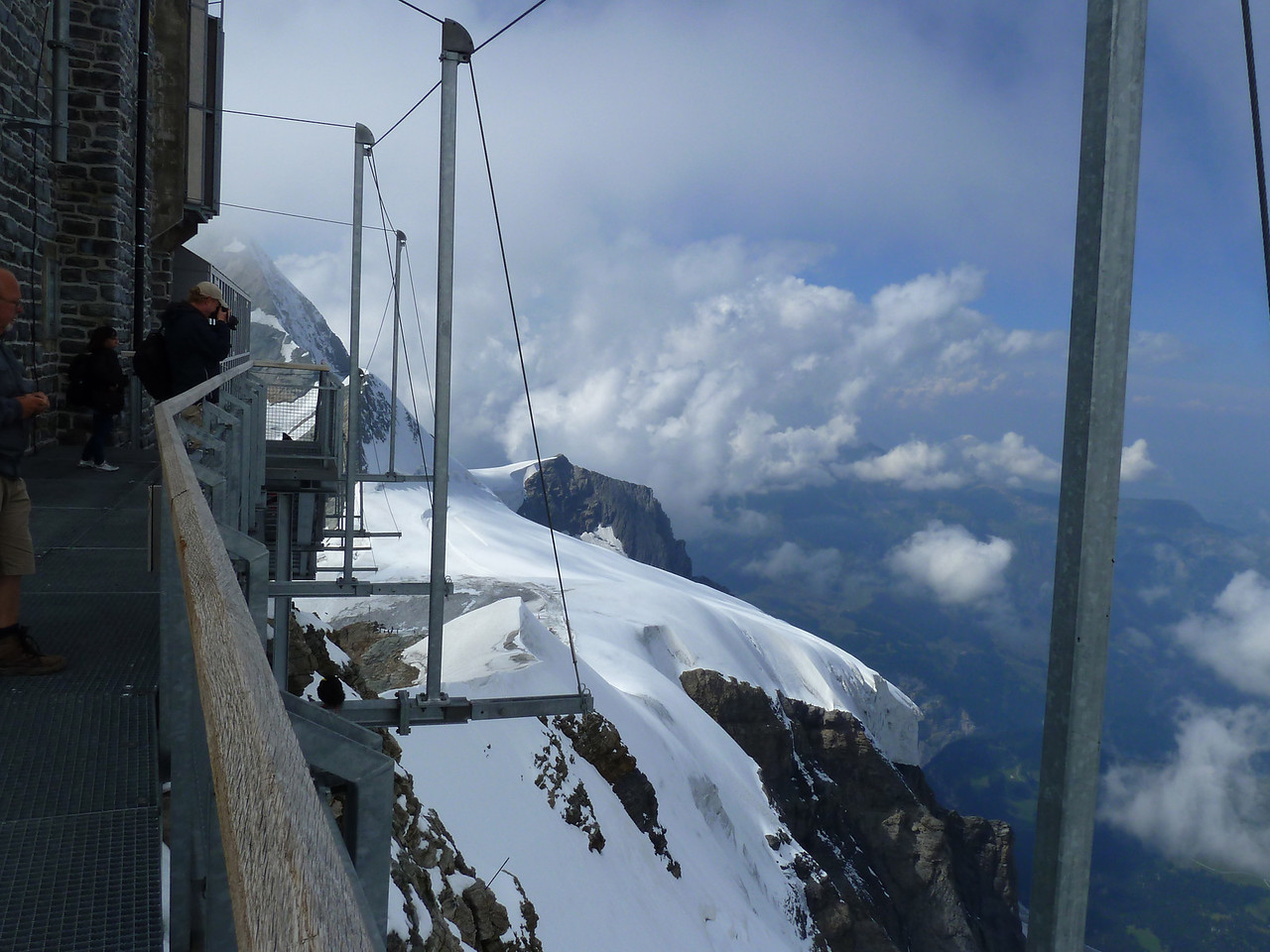 At the Jungfraujoch Look Out.