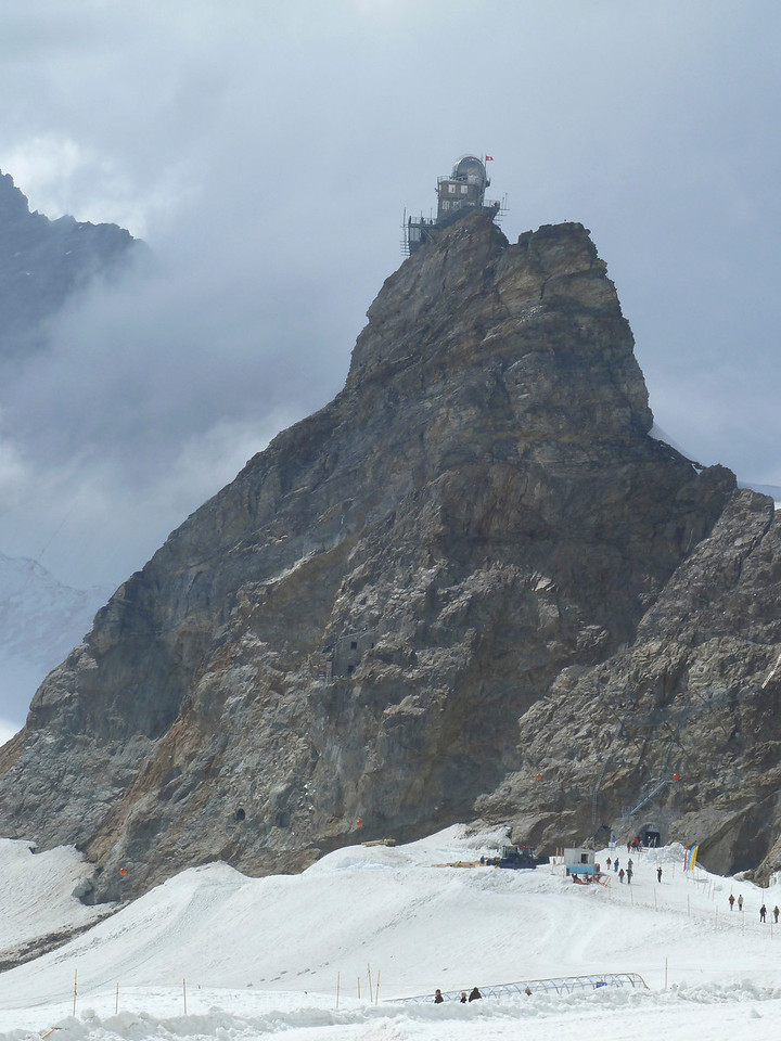 Looking back towards the Jungfraujoch from our glacier hike!