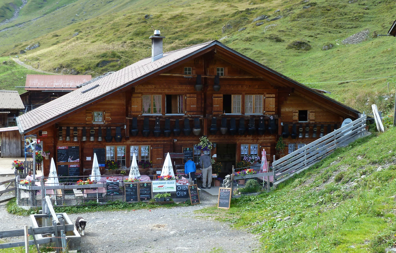 Oh yes, another place to rest, eat and drink - heavenly!! Note the cow bells!!