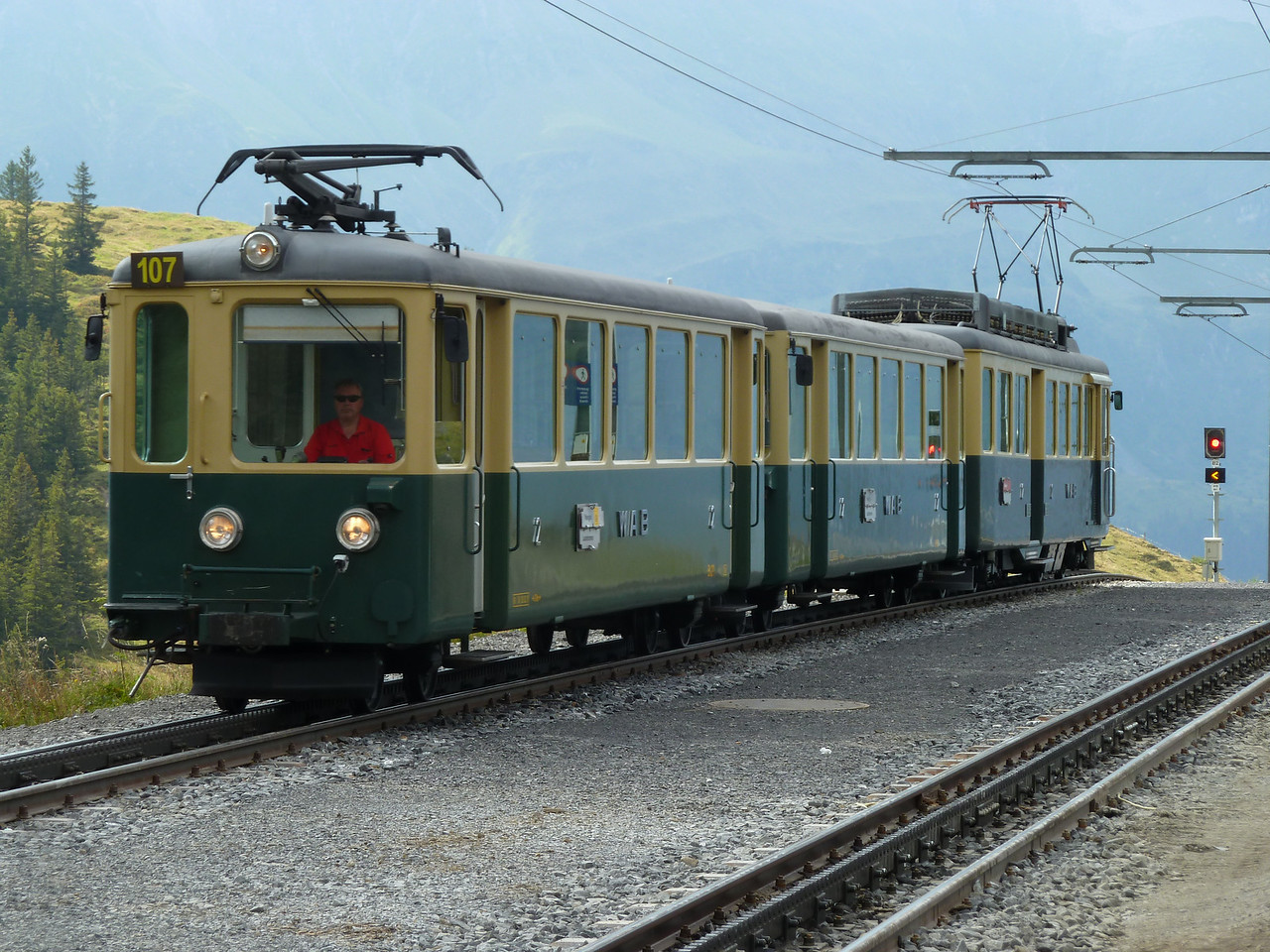 The ubiquitous mountain trains of the Grindelwald area.