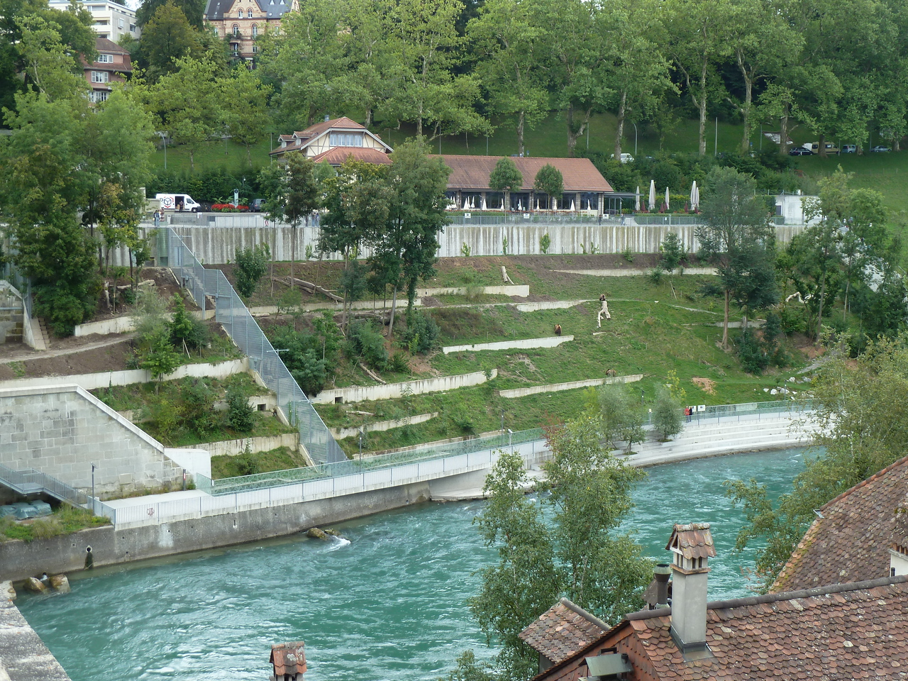 The bear enclosure in Bern.