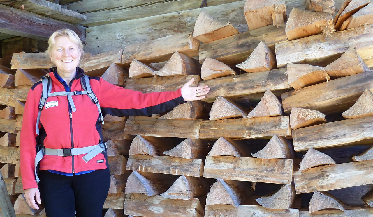 Only the Swiss can stack wood like this!