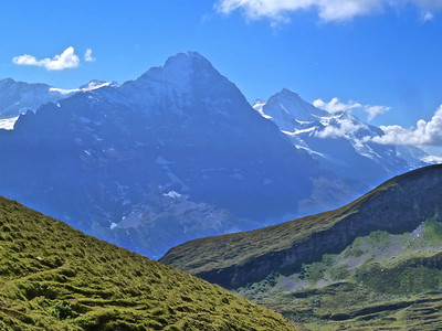 Eiger (left) and Jungfrau (right).