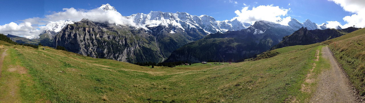 Panorama shot of the Jungfrau chain.