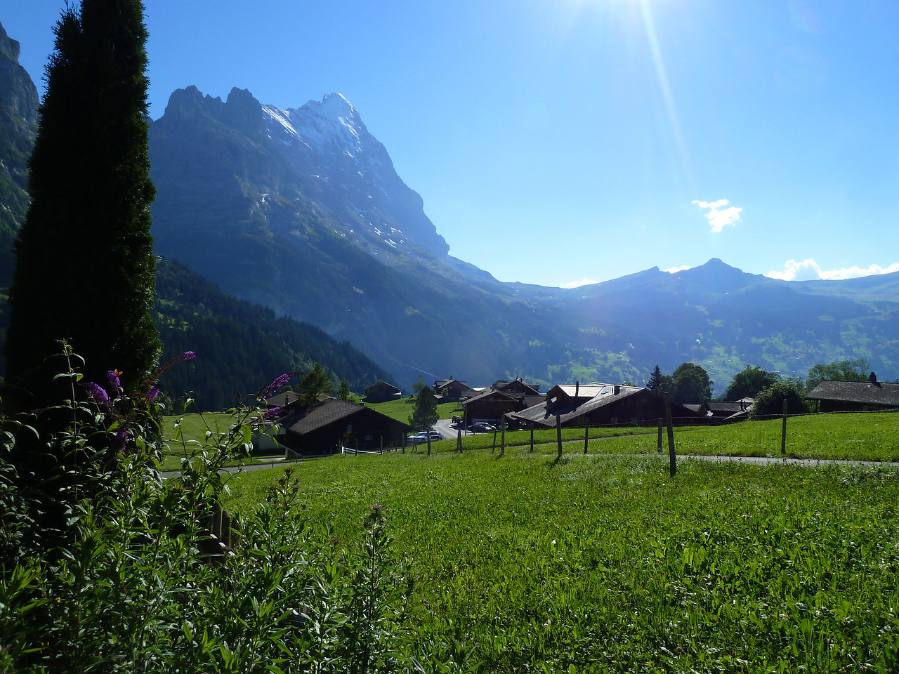 Believe it or not....this is the view from our Grindelwald apartment and yes, that is the Eiger North Face on the left!!!!!