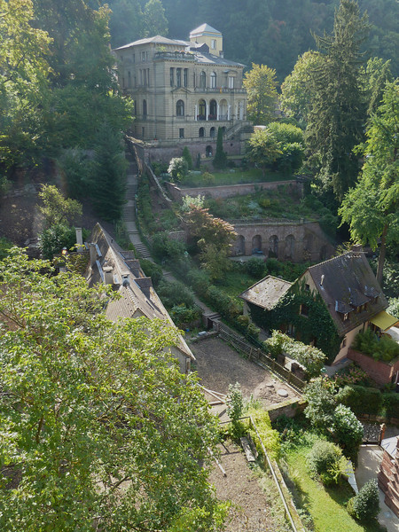 Another look at the walk up to the castle.