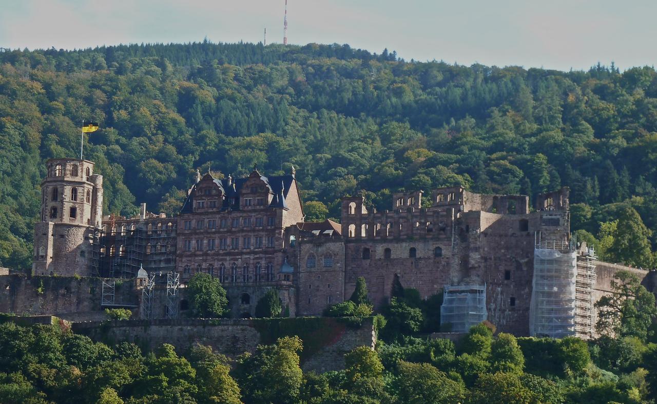 The medieval castle ruin of Heidelberg.