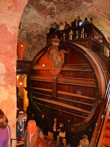This barrel from the 1600's is thought to be one of the largest in the world!