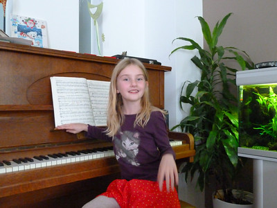 Carsten's beautiful and talented daughter Lina after a piano performance.