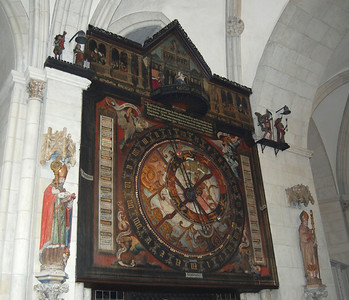 One of the oldest astronomical clocks in Germany in the Cathedral of Münster.