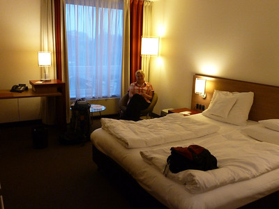 Our Münster hotel room.