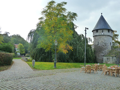Along the old city wall of Maastricht.