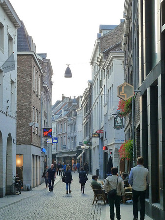 The beautiful cobbled pedestrian-only streets of Maastricht!