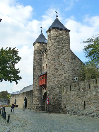 An old city gate of Maastricht.
