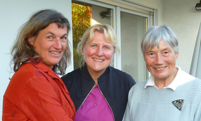 With Cousin Britta and Aunt Friedel in Ulm.