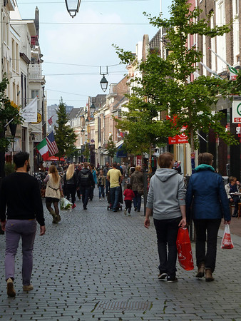 Nijmegen's extensive and charming pedestrian zone.