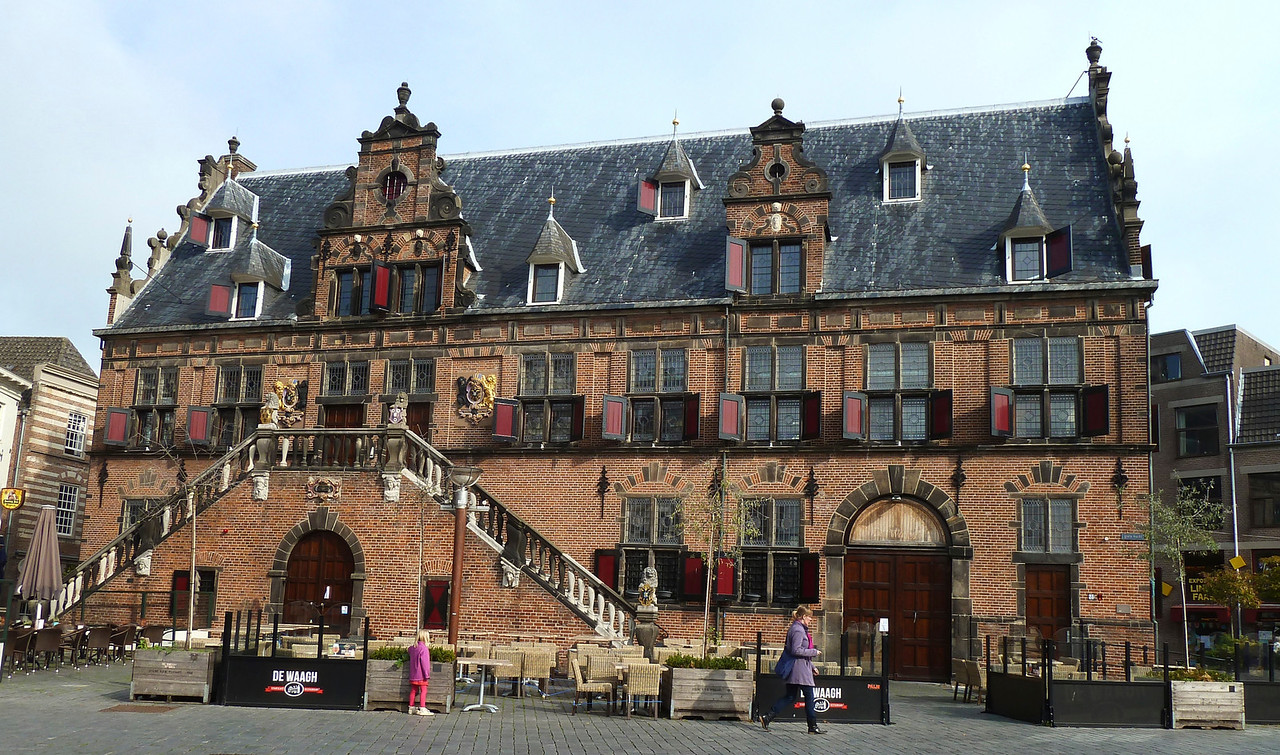 "The medieval ""Weighing House"" in Nijmegen's main square."