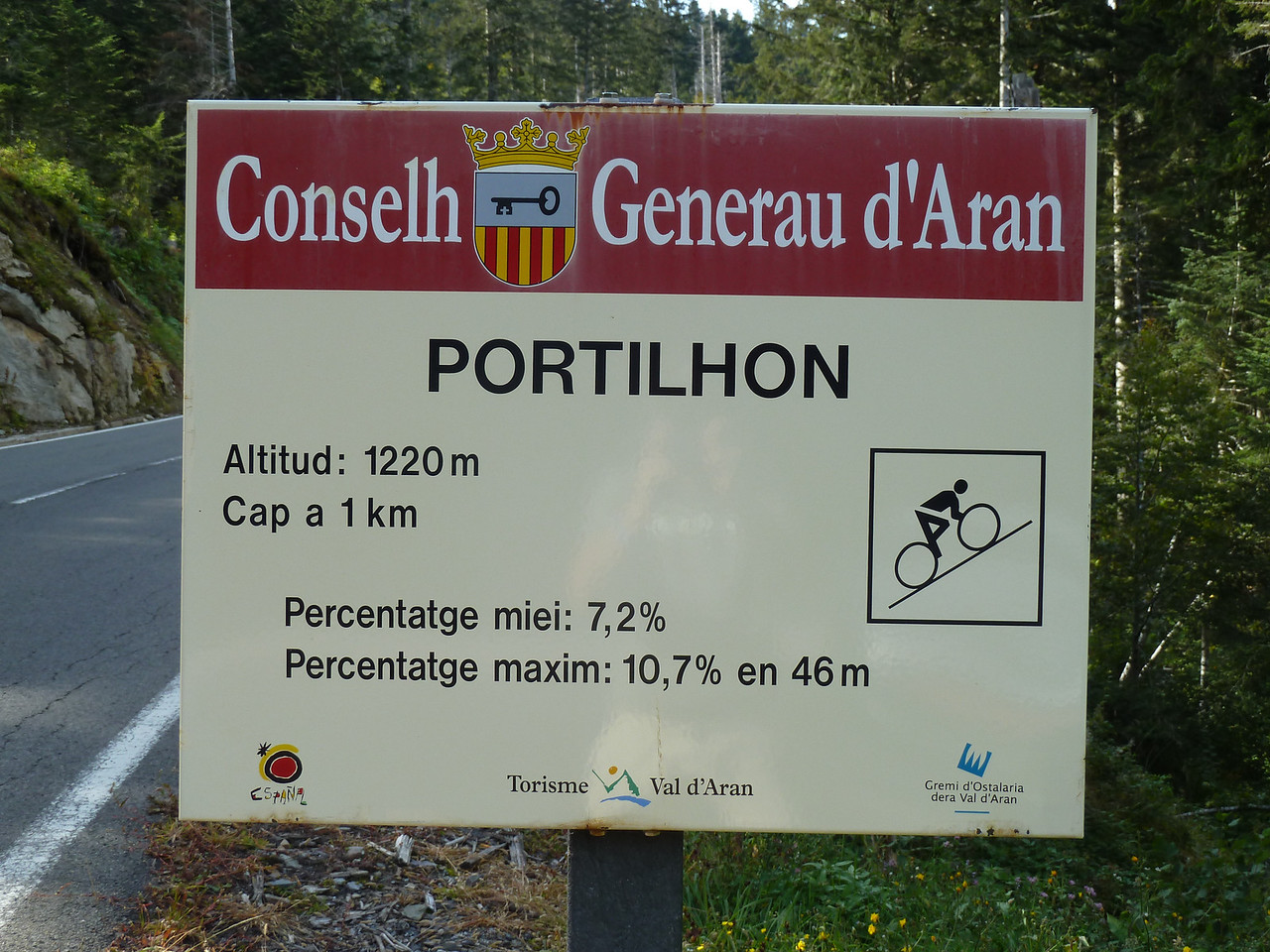 While driving through the Pyrenees, we followed famous Tour de France climbs, such as this one!