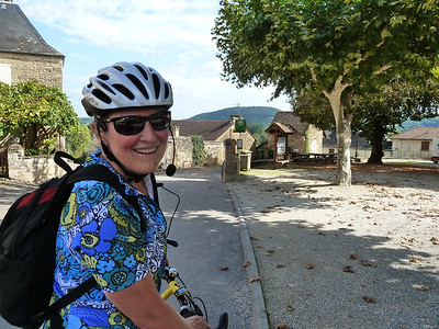 Riding our bikes in the Dordogne!
