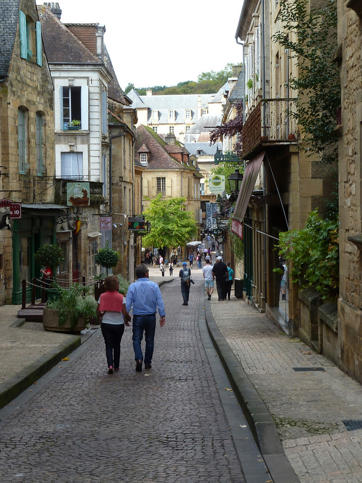 The beautiful medieval town of Sarlat la Caneda - home of foie gras and truffles!!