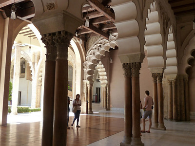 The beautiful Aljaferia Palace in Zaragoza, Spain!