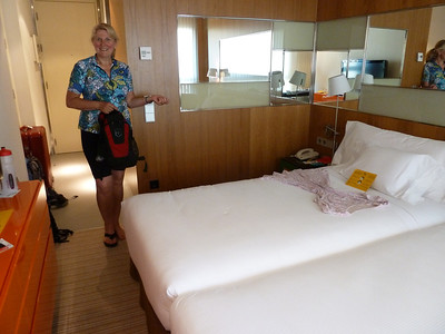 Yet another of our hotel rooms - this one in Zaragoza!