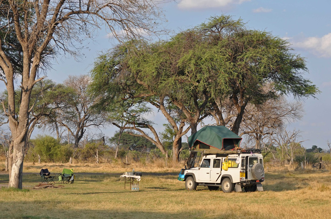 """Our campsite in the Khwai concession near Chobe National Park, Botswana - a last minute addition to the itinerary<br /> <br /> <br /> Trip planning: <br /> <br /> After much reading and online research, we drew up an itinerary and then contacted Safari Drive <a href=""""http://www.safaridrive.com"""">http://www.safaridrive.com</a>, specialist African operators based in the UK, with whose able assistance we had completed self-drives through Botswana in 2008 and Kenya and Tanzania in 2009. Safari Drive once again shared their expertise, were generous with their advice, provided us with a fully equipped Land Rover, looked after our campsite and lodge bookings, arranged all land transfers and generally made the whole experience so much easier. <br /> <br /> At the planning stage, we found the following very helpful:<br /> The Safari Drive website <a href=""""http://www.safaridrive.com"""">http://www.safaridrive.com</a><br /> The Bradt Guide to Zambia Fourth Edition 2008 (ISBN-13: 978-1-84162-226-2) by Chris McIntyre<br /> The Bradt Guide to Botswana Third Edition 2010 (ISBN-13: 978-1-84162-308-5 by Chris McIntyre<br />  <a href=""""http://www.bradtguides.com"""">http://www.bradtguides.com</a><br /> Fodor's Africa and the Middle East Forum <a href=""""http://www.fodors.com/community/africa-the-middle-east/"""">http://www.fodors.com/community/africa-the-middle-east/</a><br /> <br /> We found our way with a Garmin 60CX GPS, onto which we loaded the Tracks4Africa Botswana and Zambia/Zimbabwe maps. We purchased the maps online: <a href=""""http://www.tracks4africa.co.za"""">http://www.tracks4africa.co.za</a>. Our vehicle came equipped with a Garmin Nüvi, which was also loaded with the appropriate Tracks4Africa maps. We couldn't have become lost if we tried.<br /> <br /> We also found the following paper/hard copy maps helpful. Safari Drive provided some of the maps, and we purchased the remainder online from <a href=""""http://www.omnimap.com"""">http://www.omnimap.com</a>. <br /> Botswana (paper map) Tracks4A"""