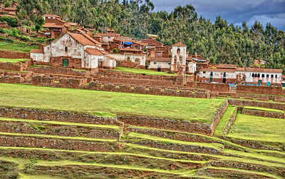 Inca Palace in Chincero, Sacred Valley Peru