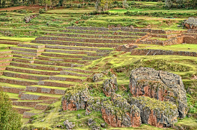 Inca Farming Steps Chincero Sacred Valley Peru